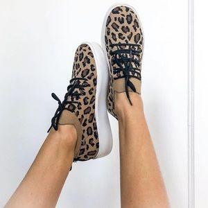 New! Steve Madden Leopard Print Platform Sneakers